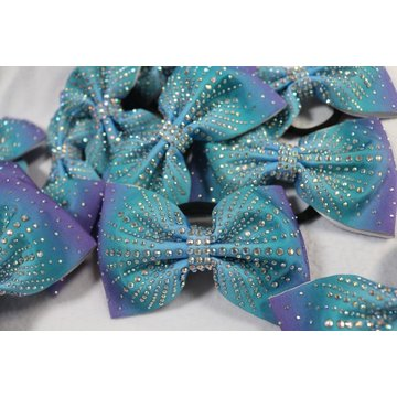 Pasokan Ombre Shiny Cheer Bows Sublimasi