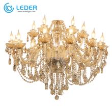 Lampes suspendues classiques en cristal LEDER