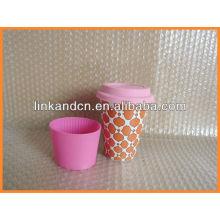 Haonai KC-00933 ceramic mug with silicon lid