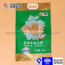 Размер Подгонянный риса пластиковая Упаковка мешок с ручкой