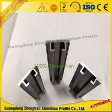Trilho de guia de alumínio personalizado do perfil para a decoração da mobília