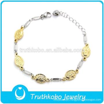 Costume jewelry Virgin Mary stainless steel bracelet vintage charmbracelet jewelry
