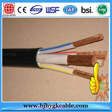 Cable de alimentación iuslated 3 × 10/10 mm2 0.6 / 1 PVC