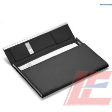 Vente en gros A4 PU Leather 4 Ring File Folder / Multi-Function File Folder / Folder with Magnetic Snap