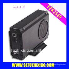Ventilador grande 3.5 SATA HDD Enclosure USB3.0