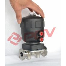 Conexión de abrazadera sanitaria válvula neumática de diafragma accionada por aire