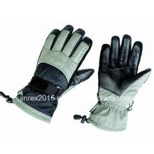 Ski Winter Heated Moto Warm Waterproof Windproof Outdoor Leather Gloves