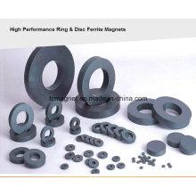 Vários tamanhos de ímãs de ferrite anel, amplamente utilizado em alto-falantes