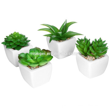 Mini potted factory sale various artificial plastic succulent plant for decor