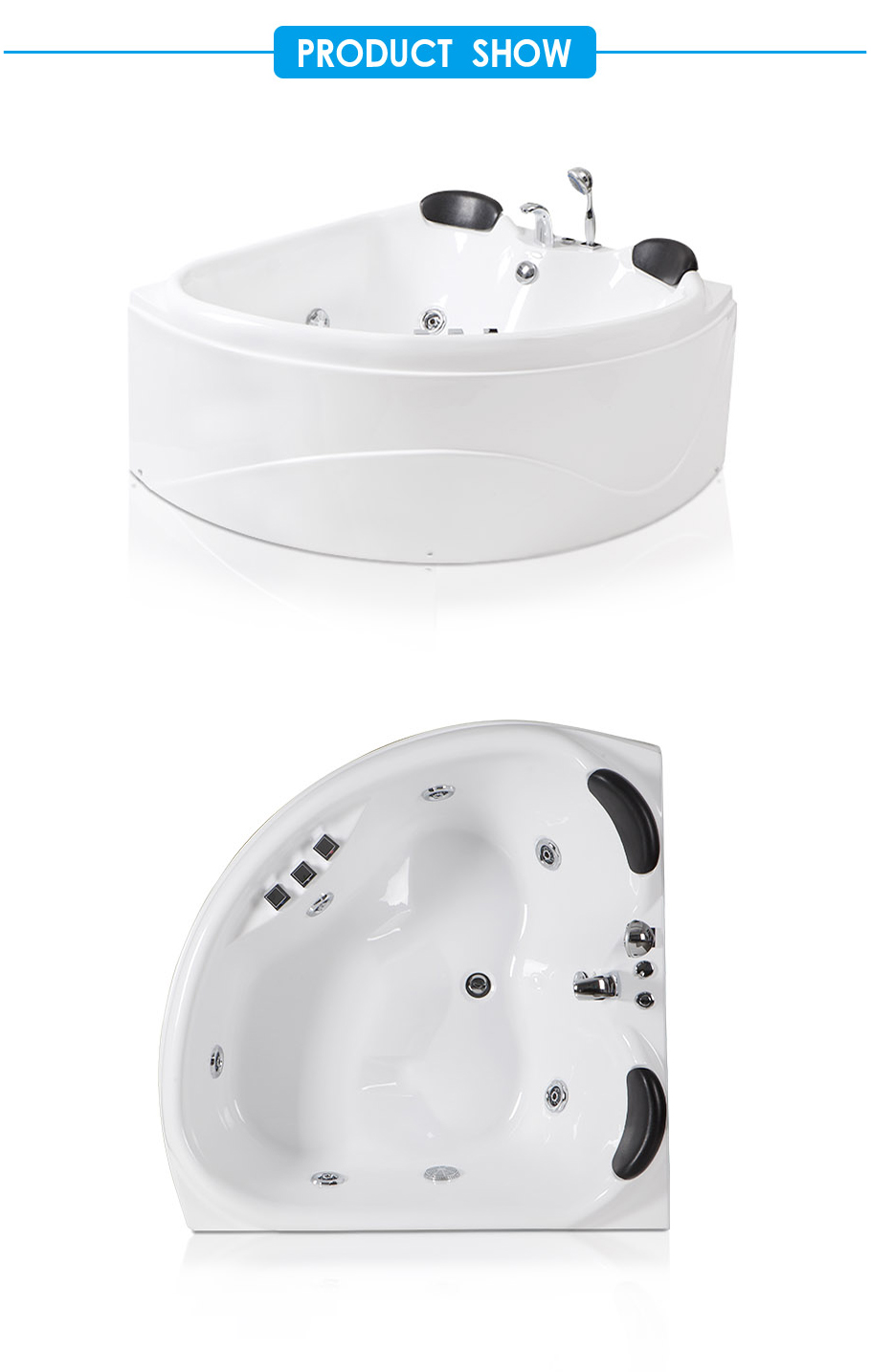 Primo Two Person Whirlpool Bath Tub