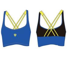 Пользовательские дамы быстро сухой Йога спортивный бюстгальтер для занятий спортом