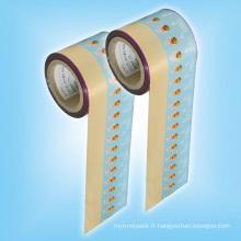 Film de rouleau enveloppant doux de aluminisation de torsion pour l'emballage