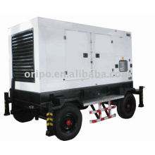water cooled, electric start 60 hz low noise trailer generator set