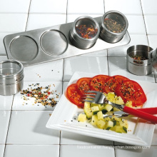 Stainless Steel Magnetic Spice Rack Set (CL1Z-J0604-4A)