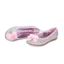 Gilrs linda brilhante diamone pu flor decroration vestido fashionest sapato