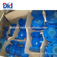 La Chine a chargé la dimension de clapet anti-retour d'oscillation de fer de la fonte DIN 6 de gaz de 800 de PVC naturel de pouce de PVC