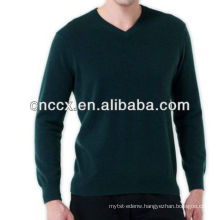 13STC5521 men V-neck pure cashmere sweater