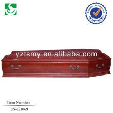 cercueil adulte de vente directe noyer de style européen fabriqué en Chine