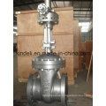 Large Diameter Cast Steel Flanged End Gate Valve with Bevel Gear