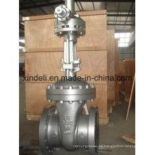 Válvula de compuerta de extremo con brida de gran diámetro con engranaje cónico