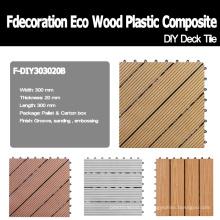 Decking composto plástico de madeira do Decking de DIY Decking de WPC