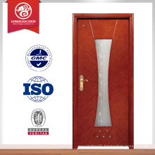 Manufactory supply wood interior door with glass