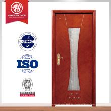 Fornecimento de madeira porta interior de madeira com vidro