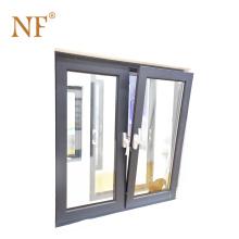 aluminium double action tilt turn windows