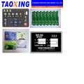 ink cup pad printing machine with conveyor 2 color