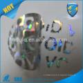 China proveedor de oro qc pasar holográfica pegatina personalizada impreso holograma láser