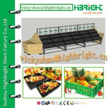Verschiedene Ebenen Obst und Gemüse Visualisierte Display Rack