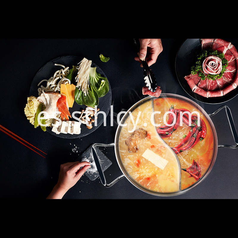 Stainless Steel Hot Pot With Separate Line 1