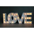 Décorations de vacances LED Light avec lettre