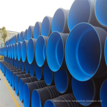 SN8 100mm,225mm,400mm HDPE Double Wall Corrugated drainage Pipe for Vietnam market