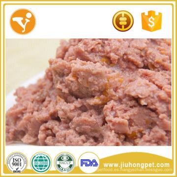 Sin aditivo 100% natural carne y verduras enlatados comida para perros