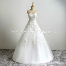Personalizado vestido de baile de casamento da noiva sem alças rendas com pura simples mais tamanho do vestido de casamento cristão rendas