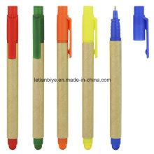 Multifunktionaler umweltfreundlicher Papier Kugelschreiber mit Stylus (LT-C815)