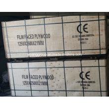1250 * 2500 * 21mm Película Contrachapado para Construcción con Ce Certificado