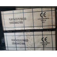 1250*2500*21mm Film Faced Plywood for Construction with Ce Certificate