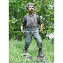 Bronze Life Size Boy Sculpture For sale