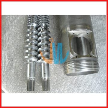 Conical twin screw design