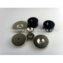Rostfreier kreisförmiger Magnet mit einem Loch