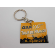Square Key Chain, Key Ring with Words (GZHY-KA-001)