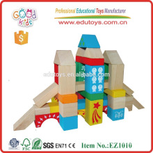 EZ1010 88pcs Learning Resources Pattern Printed Wooden Building Blocks