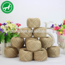Corde de sisal torsadée naturelle de corde de chanvre cru pour l'emballage de cadeau et la décoration de partie et à la maison