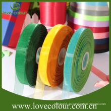 Cinta transparente colorida de encargo de la cinta del organza de la fábrica para la venta
