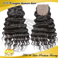 Горячая продажа 5А дешевые бразильские волосы шелковые закрытие