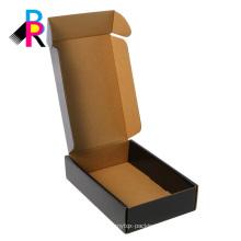 Black shipping box corrugated box mounting brown E-flute