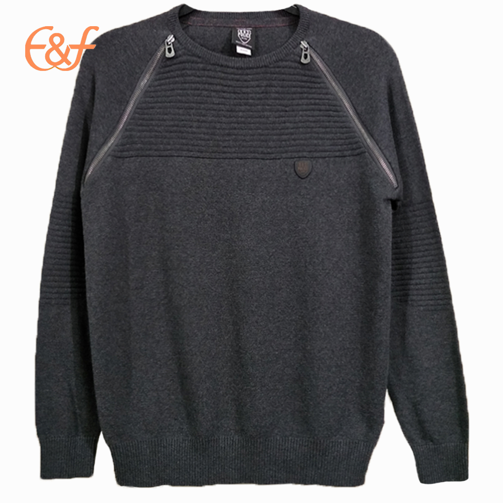Pullover Mens Sweater Cardigan Sleeves Knitted Sweater