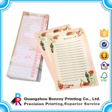 High Quality Printing Mini Sticky Brand A4 Custom Notepad List